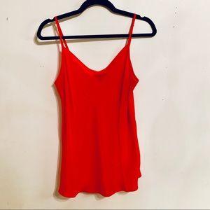 J crew red silk camisole